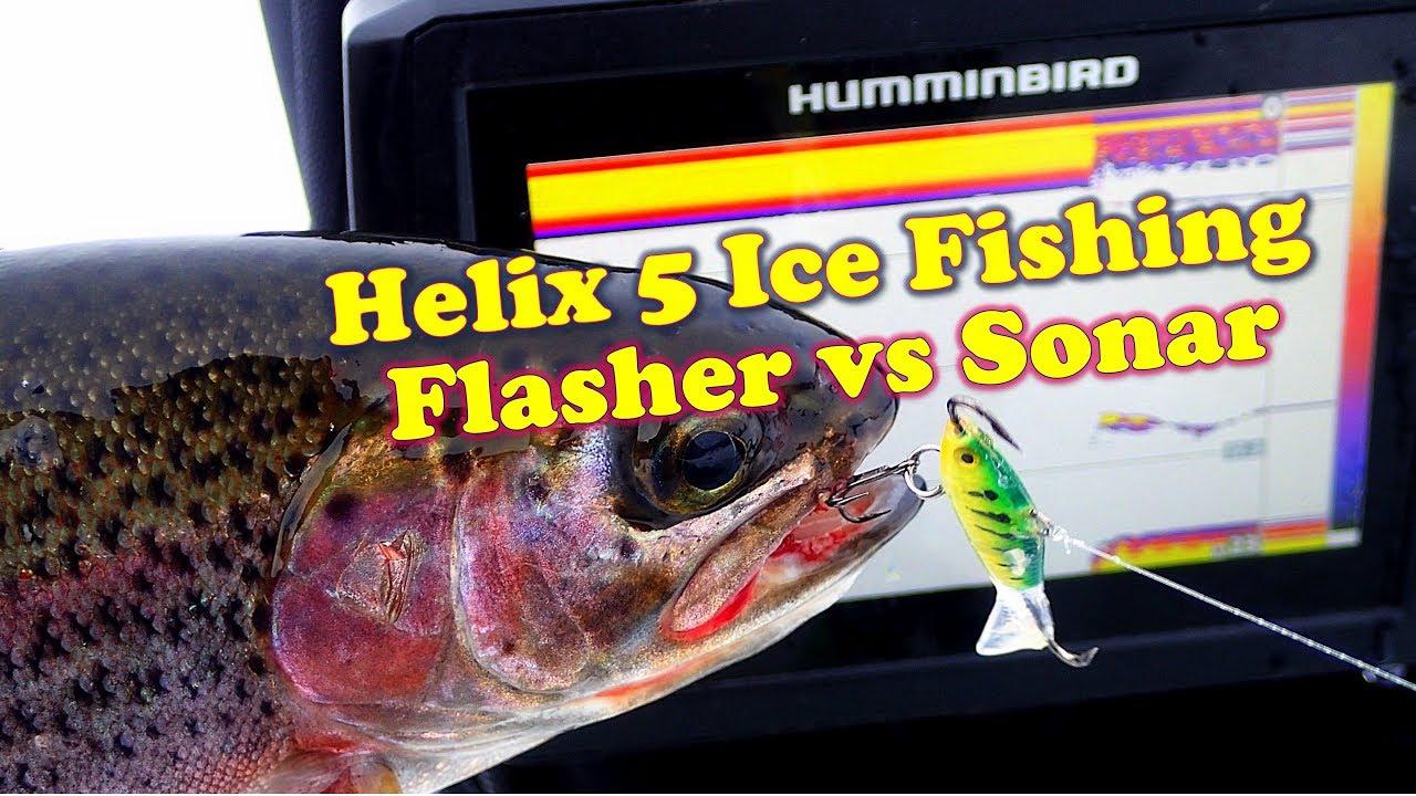 Helix 5 ice fishing flasher vs sonar modes youtube for Ice fishing flasher