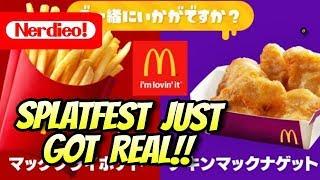 McDonald s Fries VS Nuggets Splatfest Revealed In Japan! - #TeamFries
