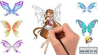 Winx Club - Công Chúa Phép Thuật - Winx Flora - Vẽ Và Tô Màu Tiên Nữ Thiên Nhiên Flora