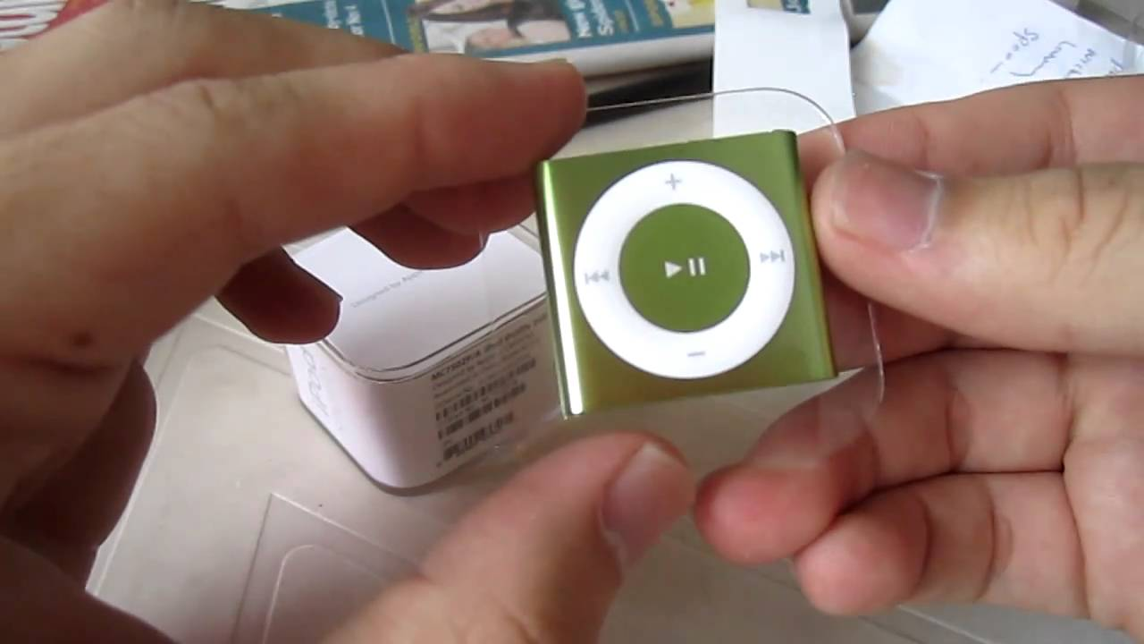 Unboxed : Apple iPod shuffle 4G 2GB (Green) - YouTube