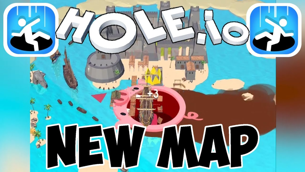 Hole Io Gameplay New Map The Islands First Highscore Ios Android Youtube