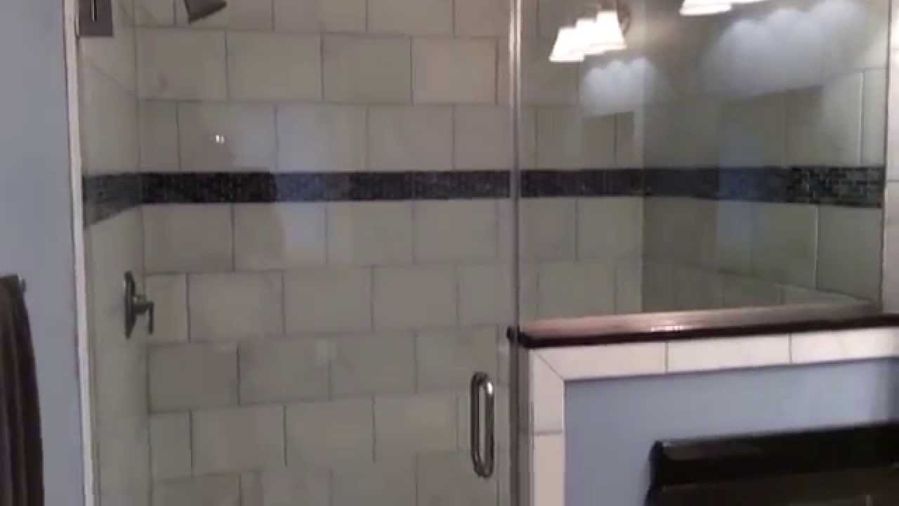 Tub To Shower Conversion With Glass Doors Youtube