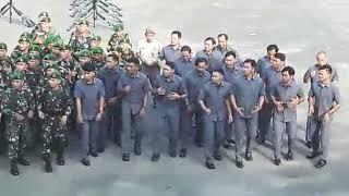 Jago Perang, Jago Nembak Korem 101/Antasari, Yel Yel..
