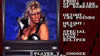 WWF RAW SNES roster 1