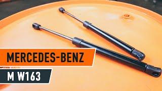 Hur och när byter man Motorhuv MERCEDES-BENZ M-CLASS (W163): videohandledning