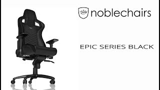 Noblechairs Epic Series Black - Gaming Stuhl - Unboxing - Zusammenbau und Test | Deutsch German thumbnail