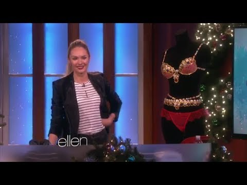 Supermodel Candice Swanepoel on Ellen show
