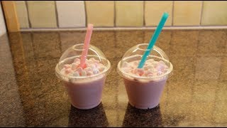 DIY ♥ Hvordan lage Starbucks Cotton Candy Frappuccino ♥ Thumbnail