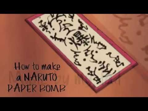 How to make a Naruto paper bomb