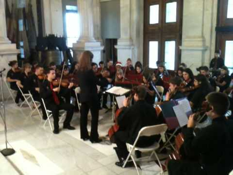 Cranston High School West Orchestra RI State House Concert - Jingle Bell Hoedown