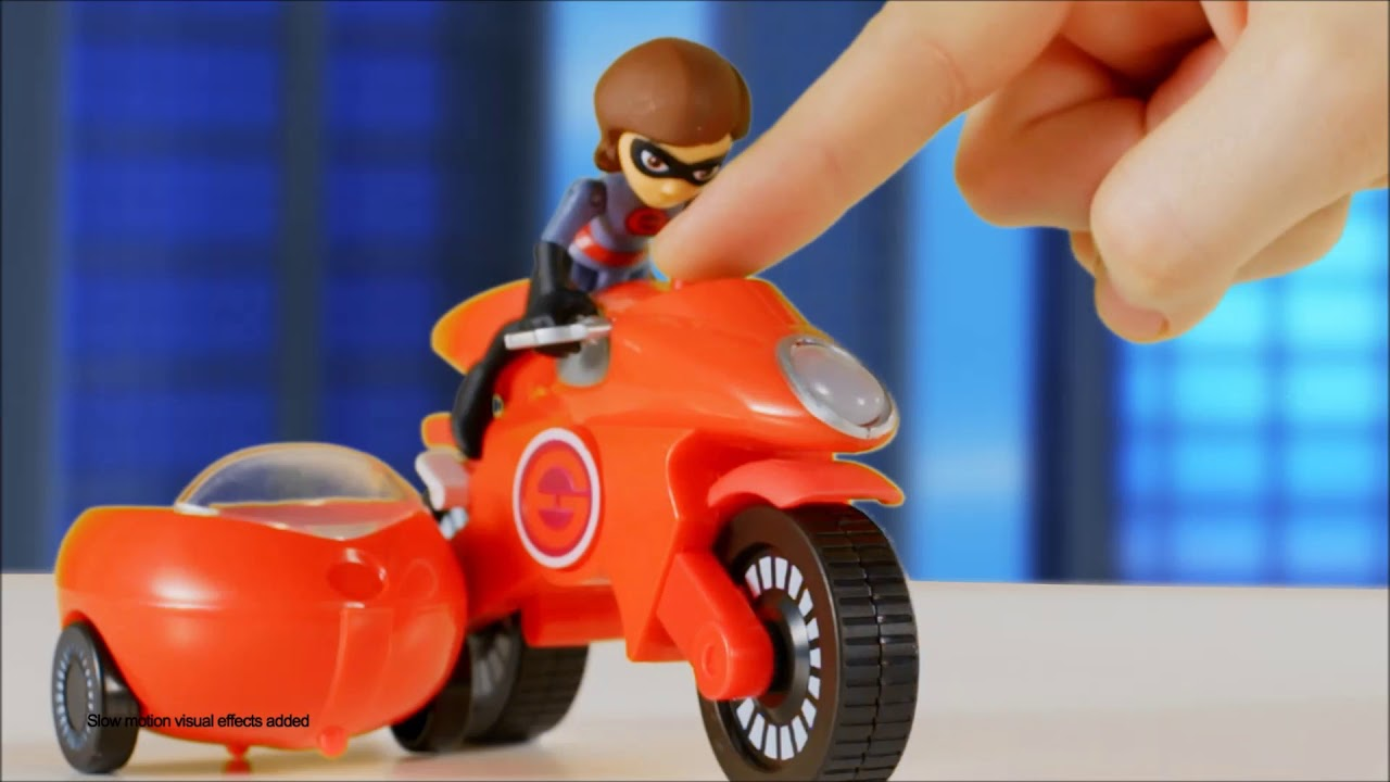 Incredibles 2 Mrs Incredible and Elasticycle Toy