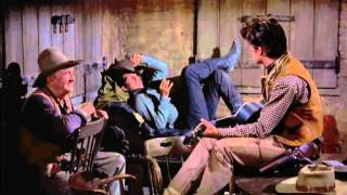 Rio Bravo, by Howard Hawks (1959) - My rifle, my pony and me (with Dean Martin & John Wayne)