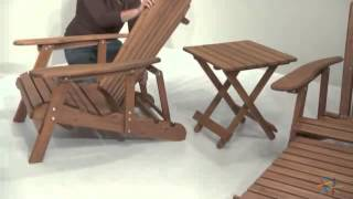 Grand Daddy Oversized Adirondack Chair Set With Free Side Table - Product Review Video