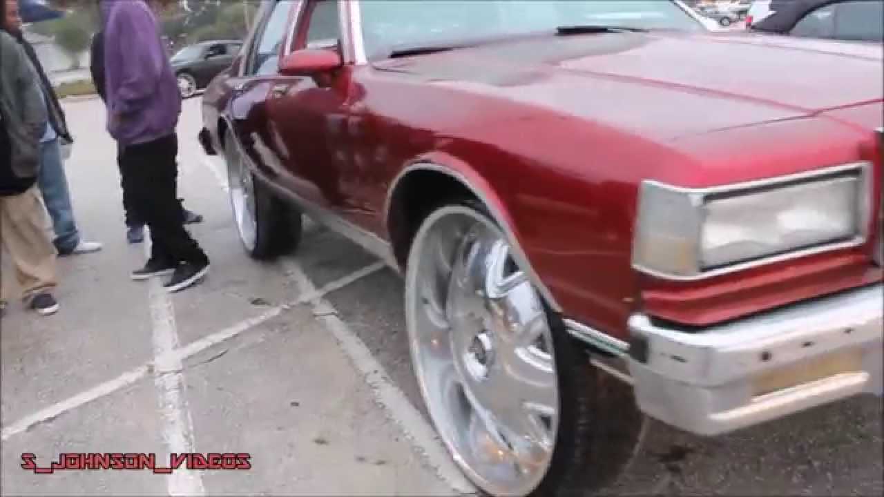hight resolution of box chevy squating on 30 inch dub banditos in hd 1080p