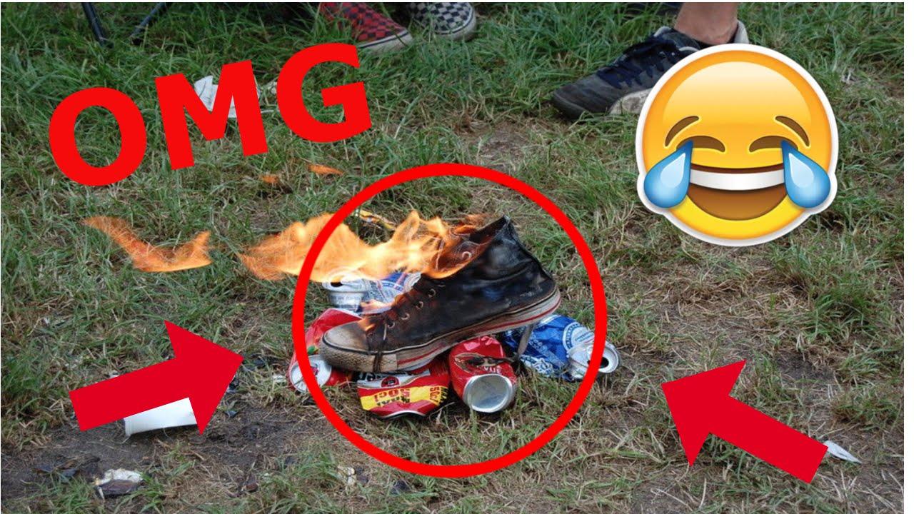 Schuhe Verbrennen