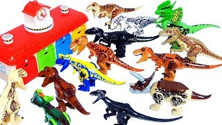 Learn Colors & Dinosaur names with Jurassic world lego dinosaur