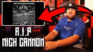 RAPPER REACTS to Nick Cannon - The Invitation (Eminem Diss)