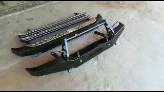 Комплект силовых бамперов и порогов на Ниву