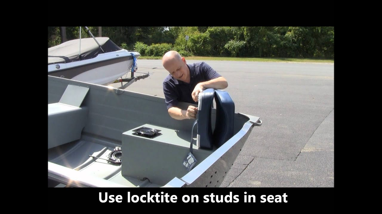 Fishing Chair Clamps Picture Of A Diy Installing Seats On Your Row Jon Or Utility Boat