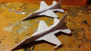 How to make the F-16 Paper airplane