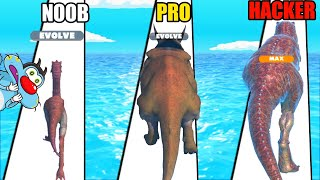 NOOB vs PRO vs HACKER | In Dino Run 3D | With Oggy And Jack | Rock Indian Gamer |