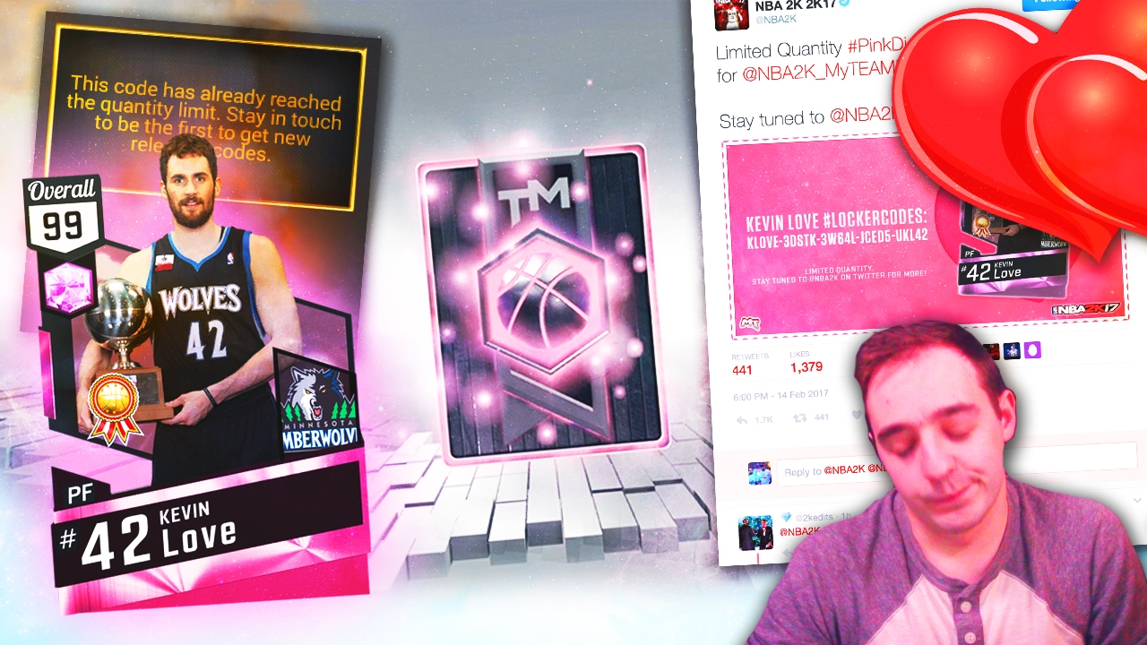 Pink Diamond Locker Codes Twitter - Nba 2k17 my team free pink diamond kevin love locker codes dropped we failed