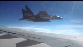 المحادثة بين الطيار السعودي والطائرة الإيرانية المتسللة .