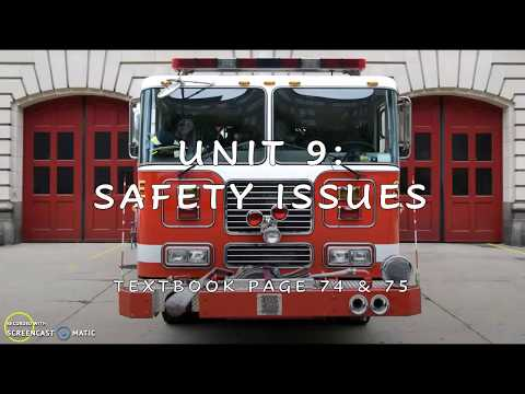 Year 5: Unit 9 Safety Issues (TB 74,75)