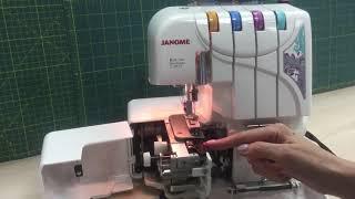 Налаштування оверлока на роликовий шов -Janome HomeDecor 1300D