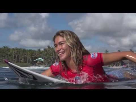Siargao International Womens Surfing Cup 2015/ Cloud 9/  Day 1 Highlights