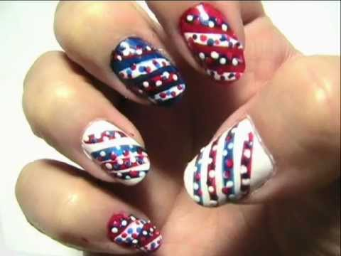 Memorial Day Nails 2 Easy Design Youtube