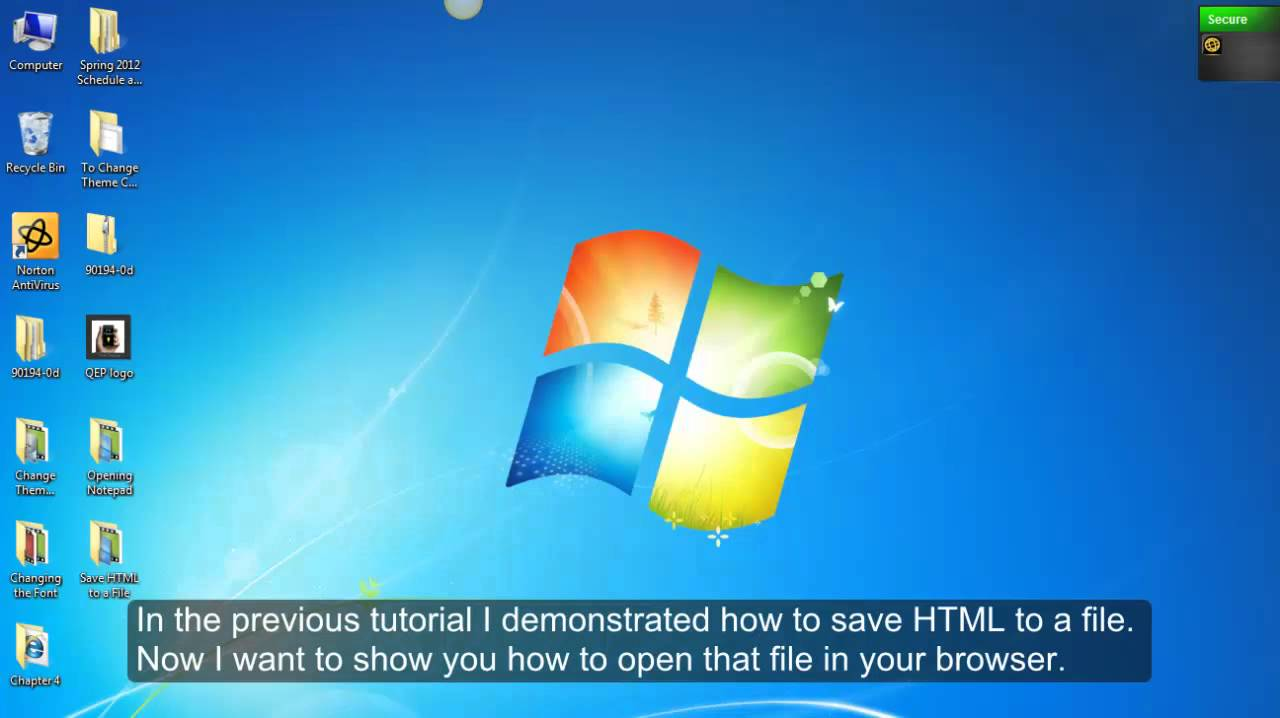 Opening A Html File In Your Browswer