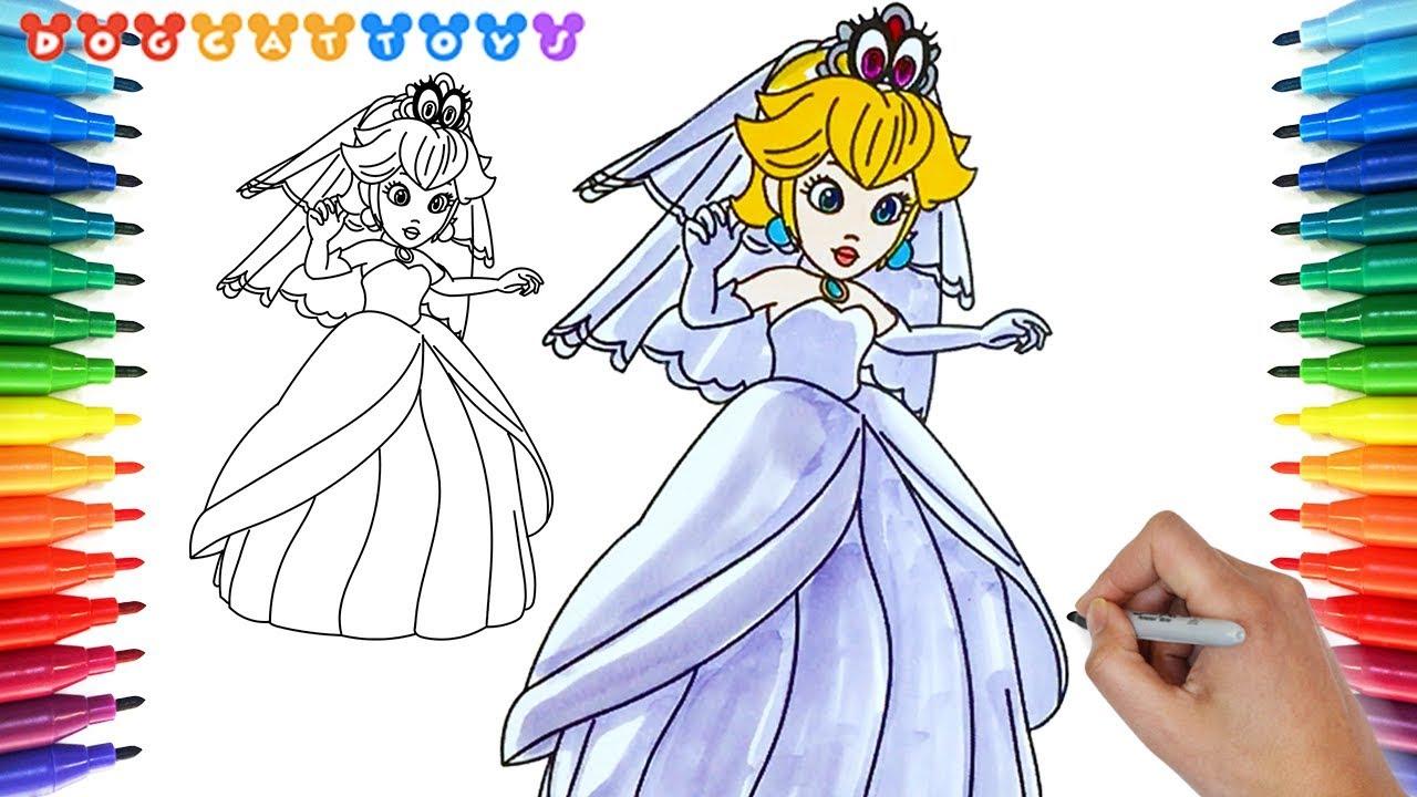 How To Draw Super Mario Odyssey Princess Peach 165 Drawing