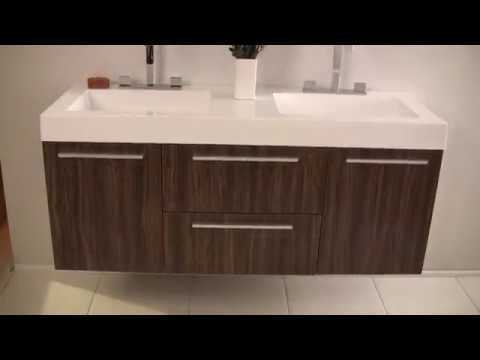 Fresca FVN8013 Opulento 54'' Modern Double Sink Vanity w/ Medicine Cabinet by KitchenSource