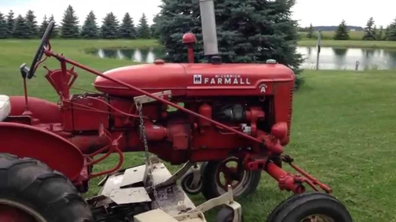farmall a belly mower