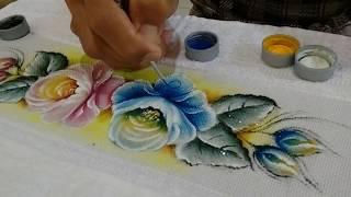 Como pintar rosas azuis