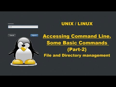 Accessing command line | Some basic commands (Part 2)| File and directory management.
