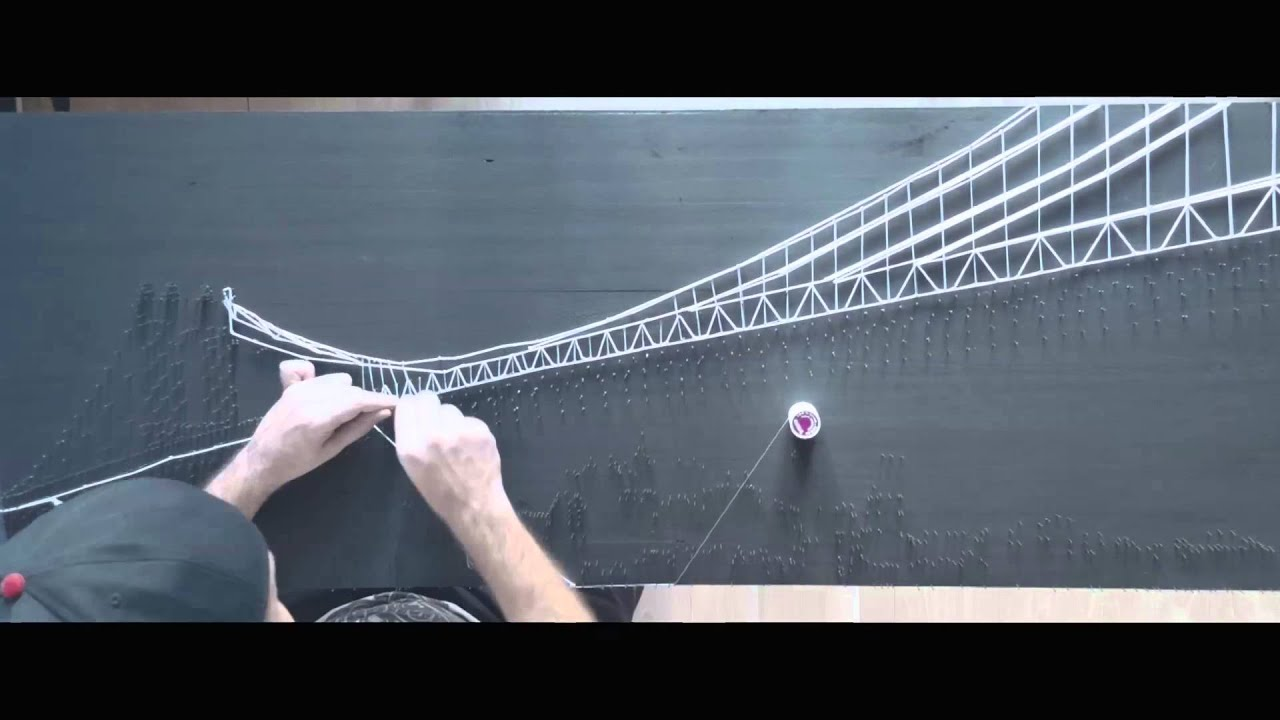 making of string art new york youtube. Black Bedroom Furniture Sets. Home Design Ideas