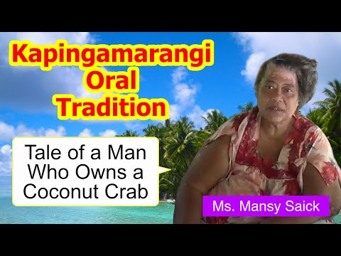 Tale of a man who owns a coconut crab, Kapingamarangi Atoll