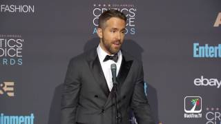 Ryan Reynolds On His Best Actor In A Comedy Win For Deadpool At 2016 Critics Choice Awards