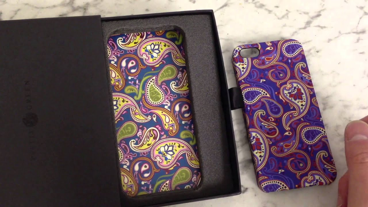 Pretty Green JAPAN PAISLEY IPHONE 5/5S CASE Review - YouTube