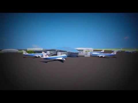 Heydar Aliyev International Airport Animation 1