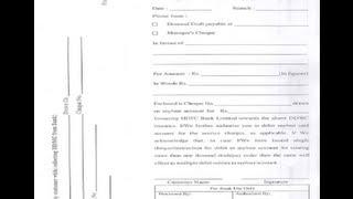 EN-Comment remplir DD forme de HDFC Bank