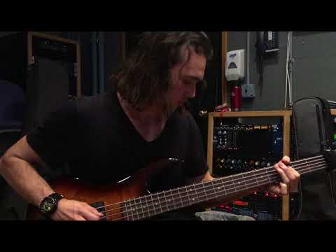 "Recording bass for ""The Axe From the Underworld"""
