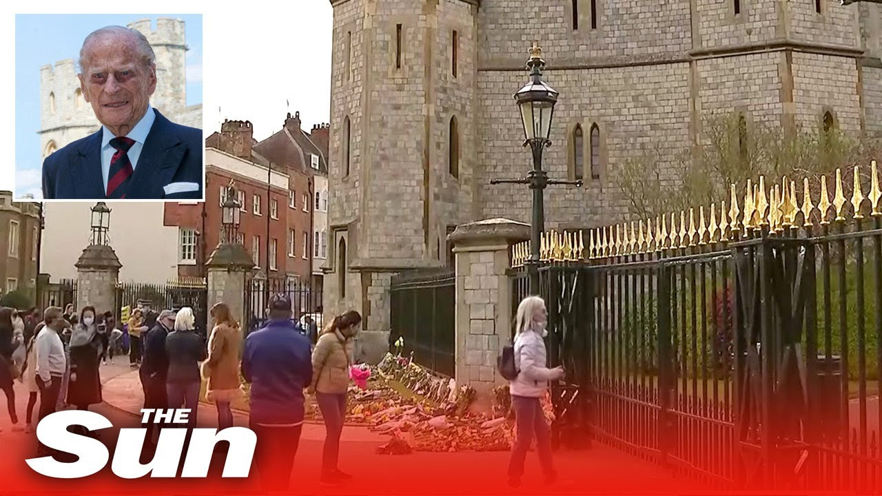 Live: Prince Philip death – Well wishers lay flowers outside Windsor Castle