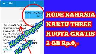 Heboh!! Kode Rahasia Kartu 3 Tri Kuota Gratis 2 GB Rp 0.. Buruan!!!