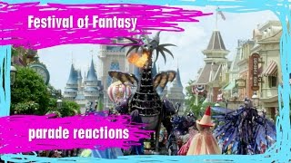 festival of fantasy parade reactions stuck in the middle   wdw best day ever