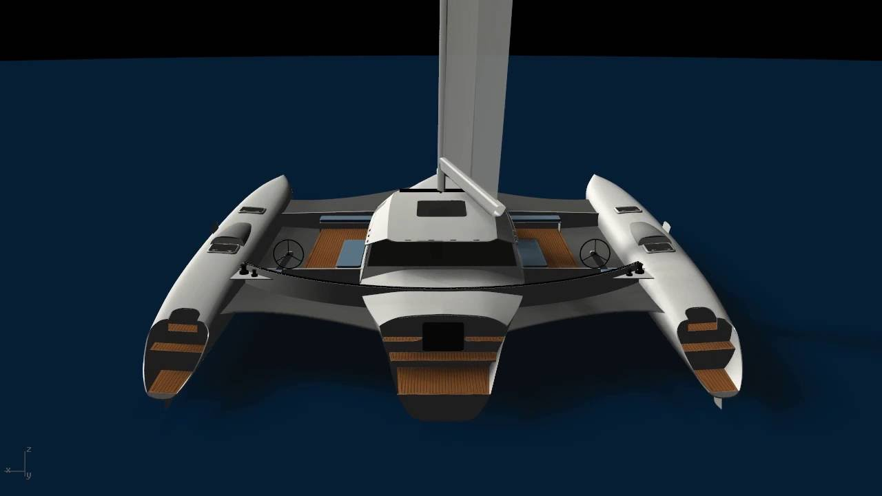 15 Metre Performance Trimaran Exterior | Schionning Designs - YouTube
