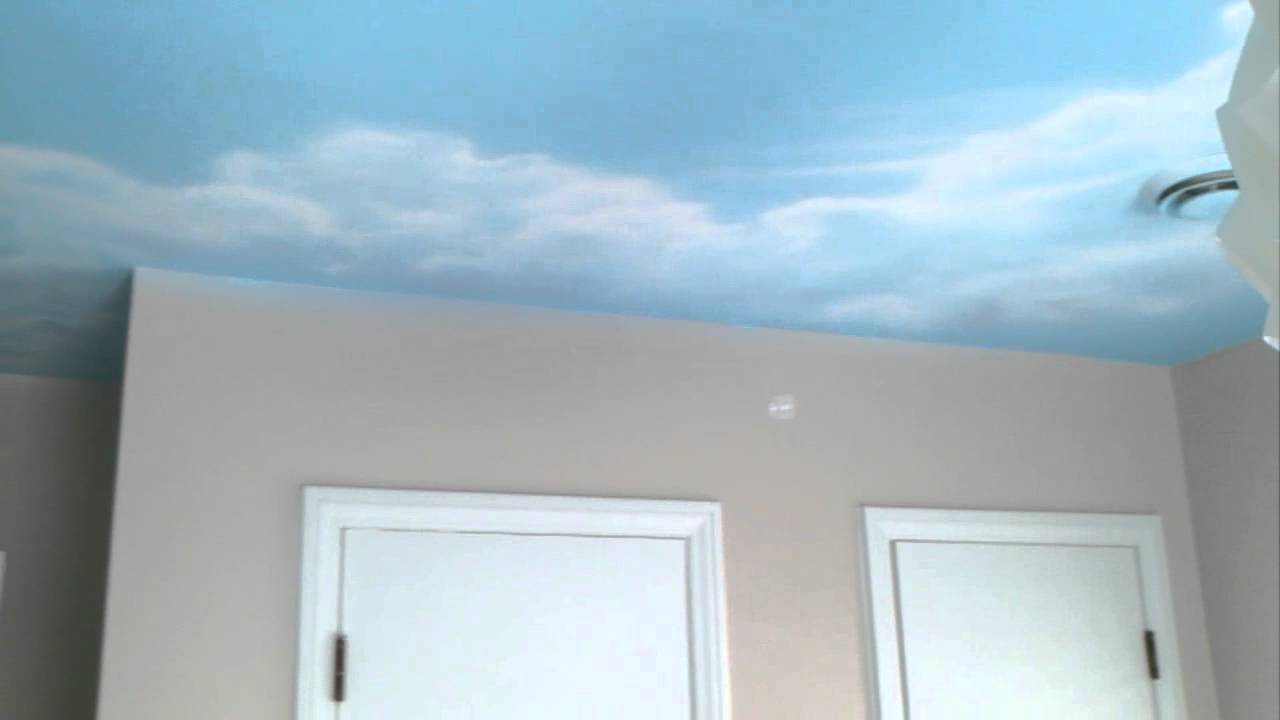 Greg Hayes Paints Sky Ceiling Mural In Nursery Youtube