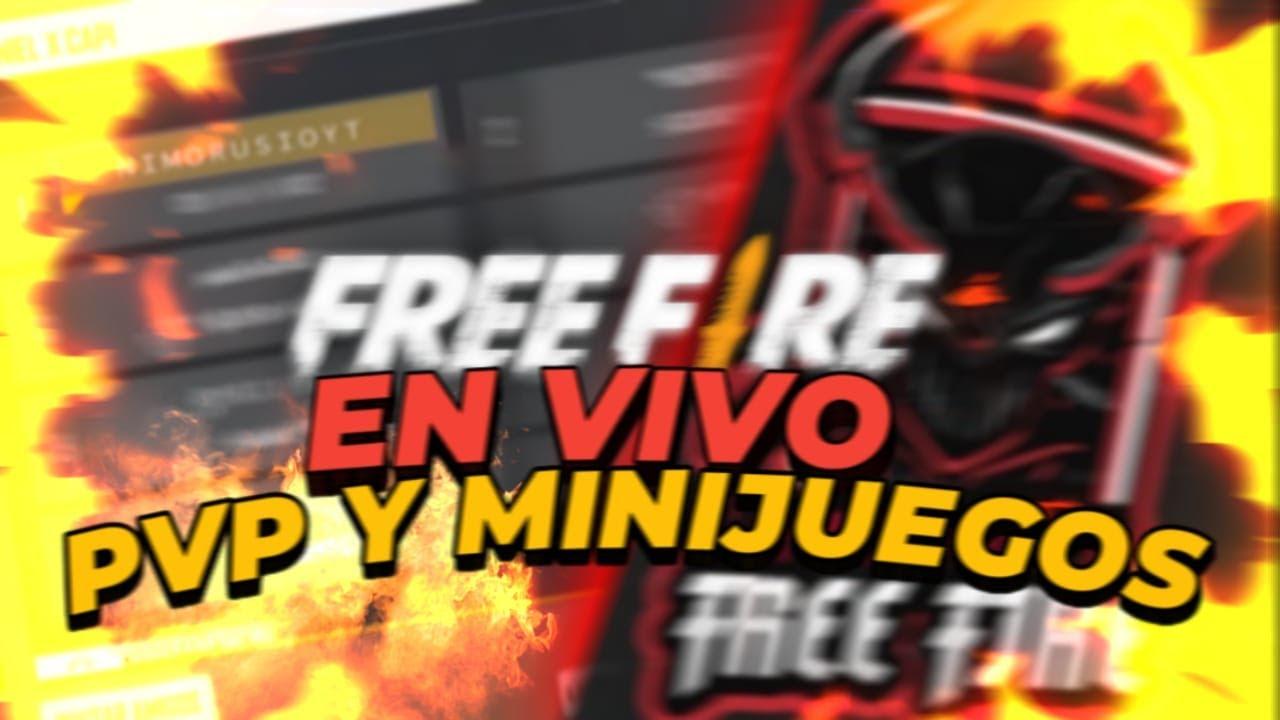directo de free fire haciendo minis juegos salas pvp   y mas